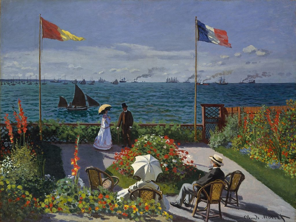 Famous Artists Friday: Clause Monet Terrace at Saint-Adresse | ArtbyAmandaHIlburn.com #art #famousartists