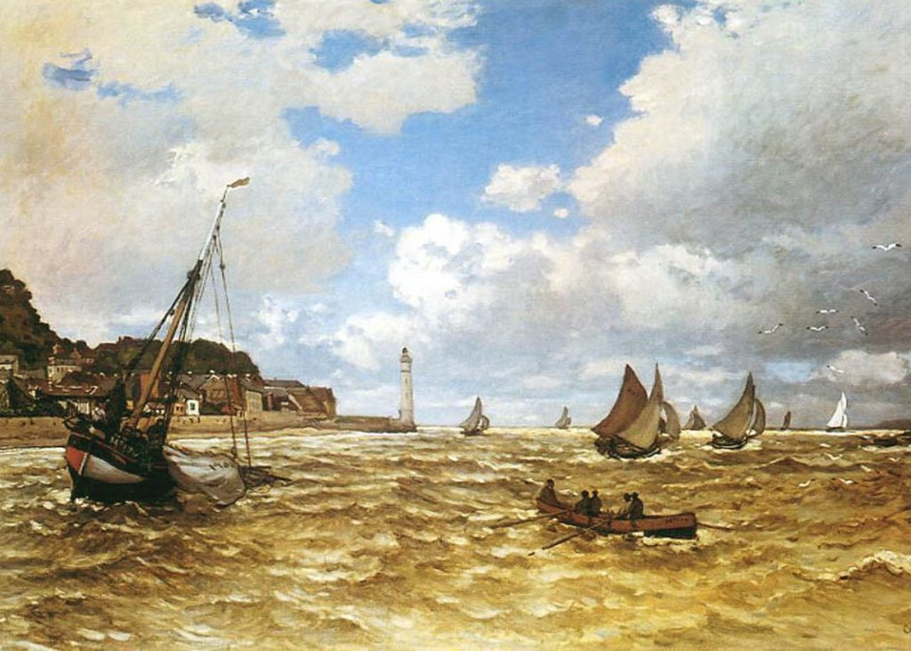 Famous Artists Fridays: Claude Monet The Entrance to the Port of Honfleur | ArtbyAmandaHilburn.com #art #famoustartists