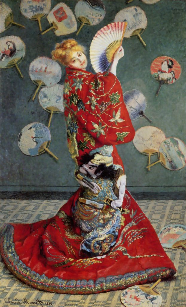 Famous Artists Fridays: Claude Monet Madame Monet in Japanese Costume | ArtbyAmandaHIlburn.com #art #famousartists