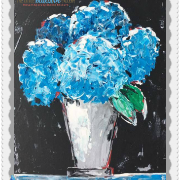 Hydrangea eCourse by Amanda Hilburn #hydrangeas #learntopaint #paintinglessons