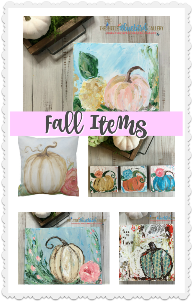 Fall Items in The Little Bluebird Gallery