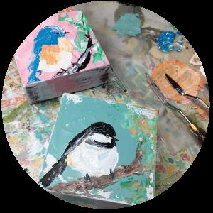 Studio Session 5: Bluebird and Chickadee