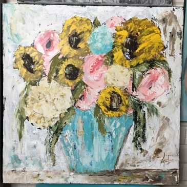 Sunflower Bouquet by Amanda Hilburn