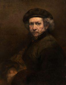 Self Portrait Rembrandt van Rijn | ArtbyAmandaHilburn.com