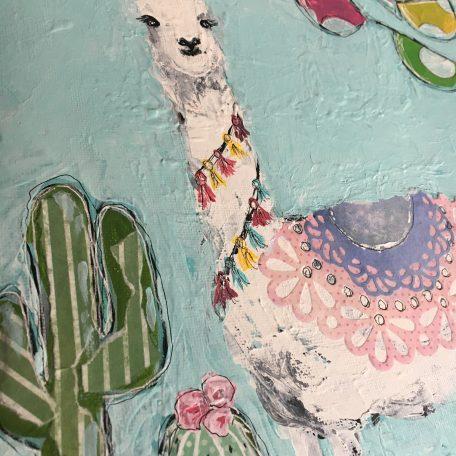 Llama painting by Amanda Hilburn