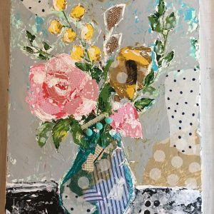 Delightful Floral; Original Floral Painting; Mixed Media Original