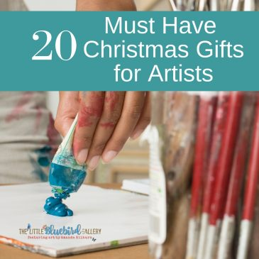 20 Must Have Artist Gifts that Every Artist Needs in their Studio | ArtbyAmandaHilburn.com #thelittlebluebiredgallery #art #artists #gifts