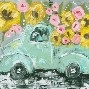 Sunflower Truck Print