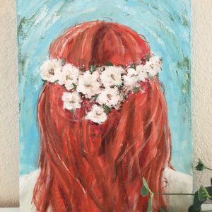 Anslie; Original Girl Painting