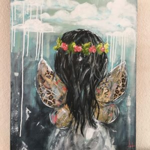 Learning To Fly; Original Girl Painting