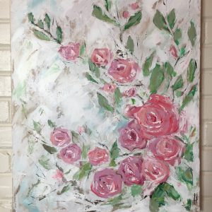 Joy In The Morning; Original Rose Painting