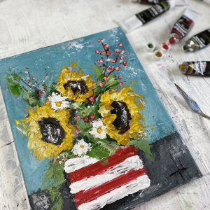Sunflowers In Stripes: A Self Study Studio Session