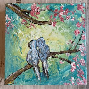 Palette Knife Birds: A Self Study Studio Session