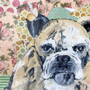 Mixed Media Bulldog: A Self Study Studio Session