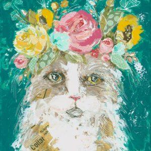 Flora; Cat Art Print