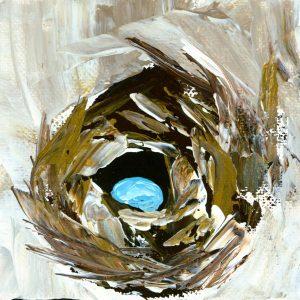 Nest; Bird Art Print