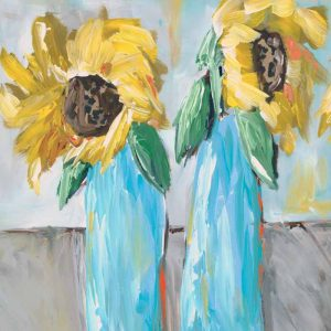 Sunflowers With Leopard Print Centers; Floral Print