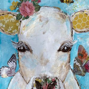 Bumble The Cow; Cow Art Print