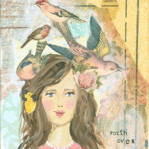 Faith Over Fear; Inspirational Art Print