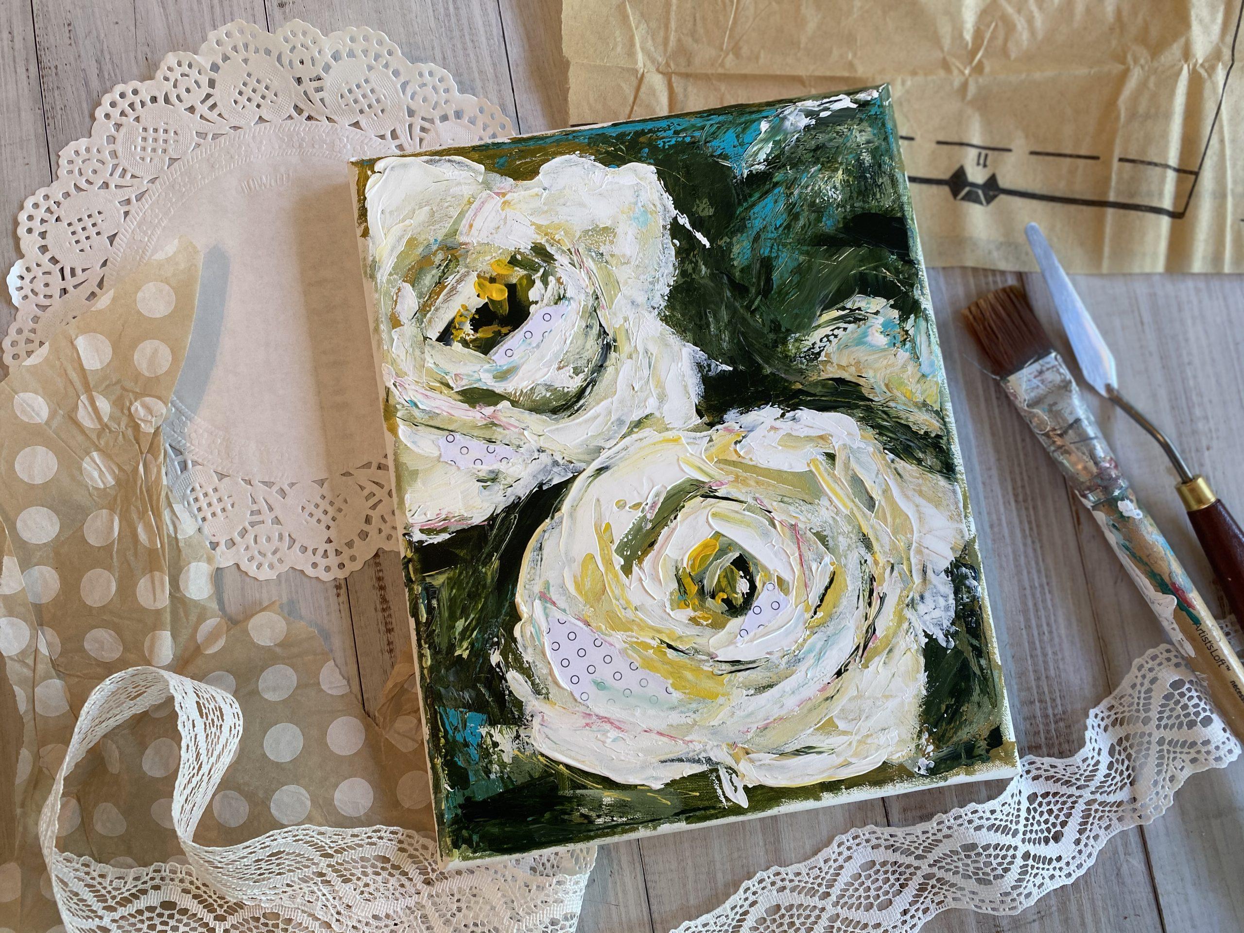 White Roses by Amanda Hilburn