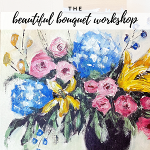 Beautiful Bouquet Workshop: learn to paint flowers with a palette knife