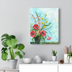 Poppy Delight Canvas Gallery Wrap Print