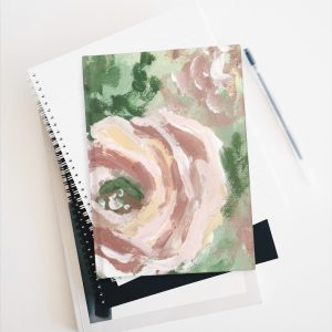 Muted Floral -Journal – Ruled Line