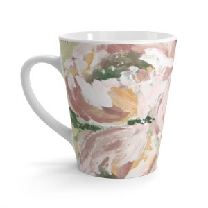 Muted Floral Latte mug