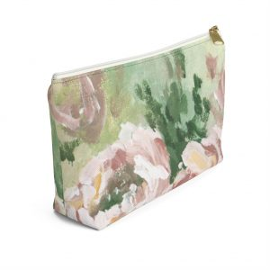 Muted Floral Accessory Pouch w T-bottom
