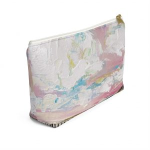 Cotton Candy Clouds Accessory Pouch w T-bottom