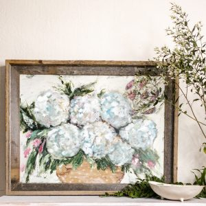Hydrangea Exploration; Original Mixed Media Floral