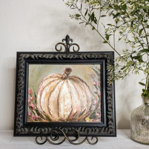 Pumpkin and Buds; Original Oil Painting
