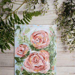Abstract Roses; Original Floral Painting