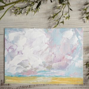 Cotton Candy Clouds; Original Landscape Painting