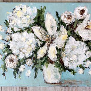 Pure Peace; Original Acrylic Floral