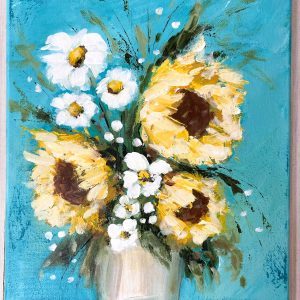 Sunflowers For You; Original Acrylic Floral