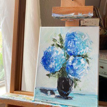 palette knife painting with Amanda Hilburn