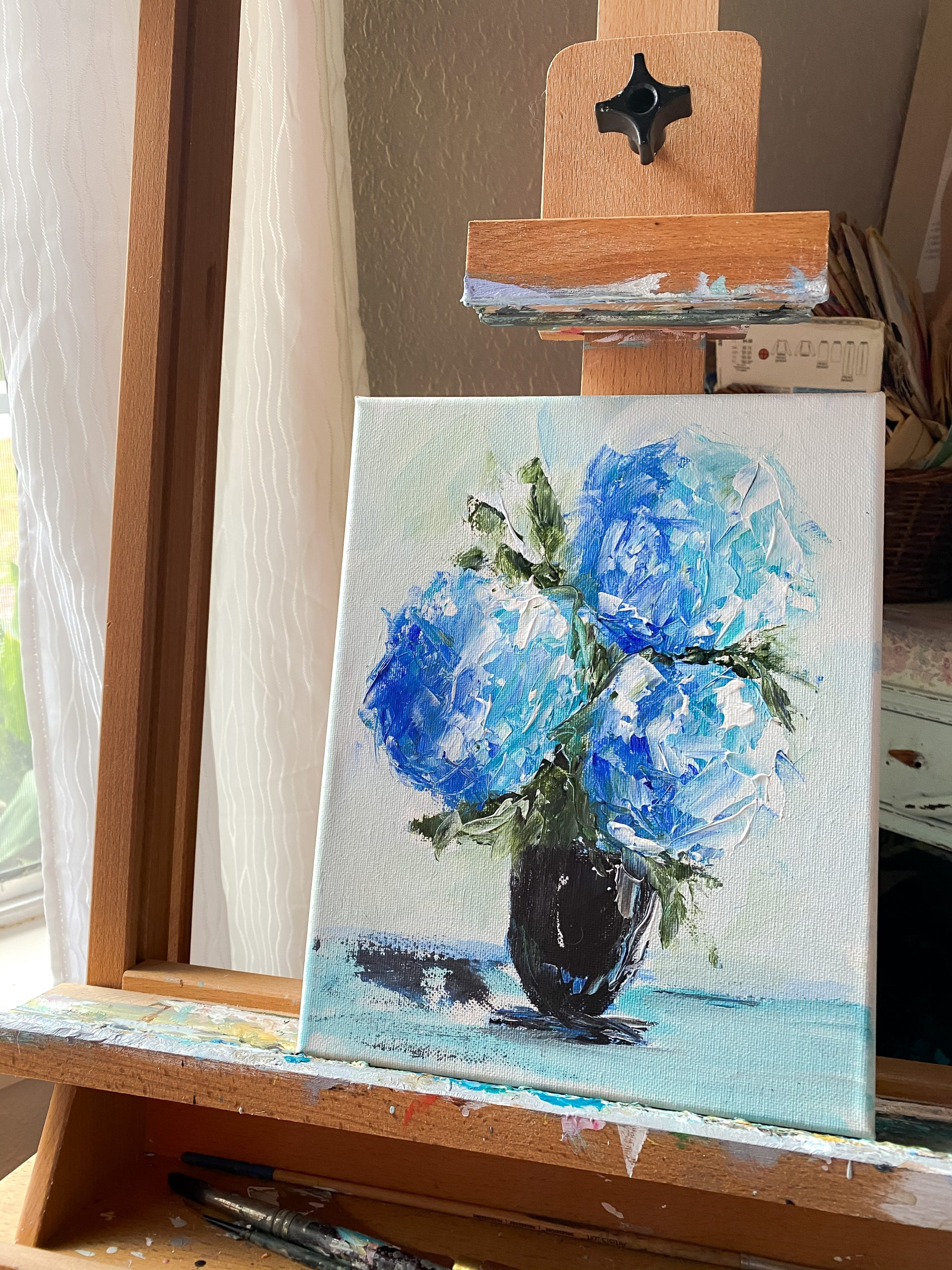 palette knife painting with Amanda Hilburn