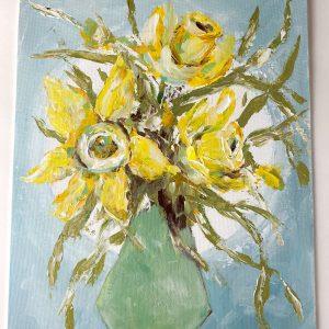 Daffodils; Original Acrylic Floral