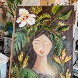 Princess Hibiscus; Original Painting