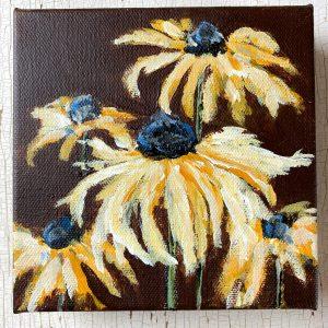 Black-eyed Susies; Original Floral Painting
