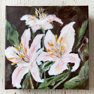 Lilies; Original Floral Painting