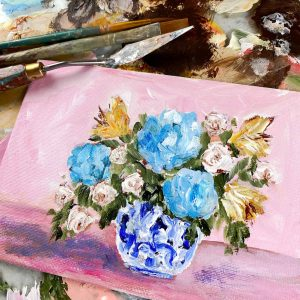 Little Floral; Original Floral Painting