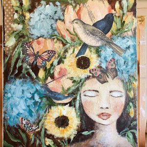 The Peace of Nature; Original Mixed Media Painting