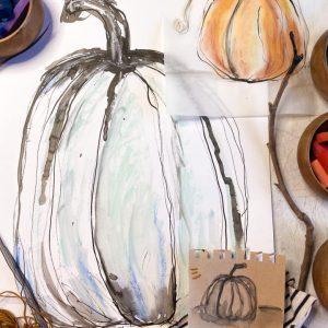 Pumpkins with Nature Tools