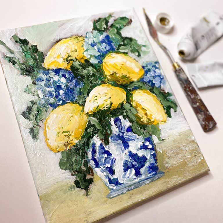 Lemons and Hydrangeas